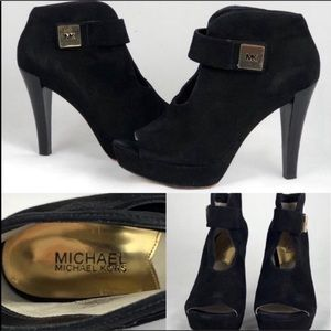 Michael Kors Black Suede booties. Size 8.